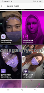 Filter Masker ungu di Instagram, adalah Filter Purple Mask instagram