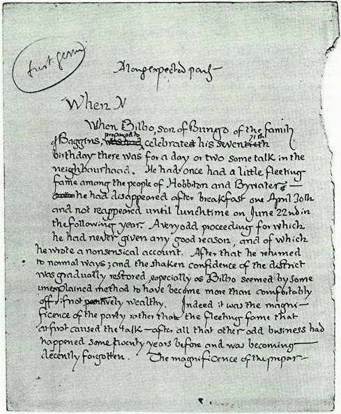 the process of writing the lord of the rings by jrr tolkien During the process of crafting in the lord of the rings, tolkien spins for the reader a meaning or as the chief influence behind tolkien's writing but as an.