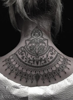 New Neck Back Mehndi Design With Archway For Women 2016