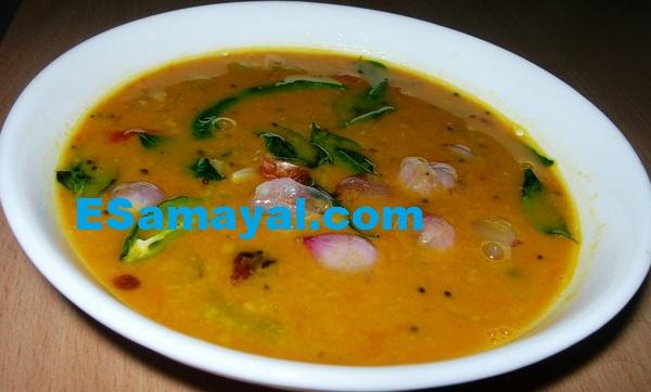 வெங்காய சாம்பார் செய்முறை | Onion Sambar Recipe !