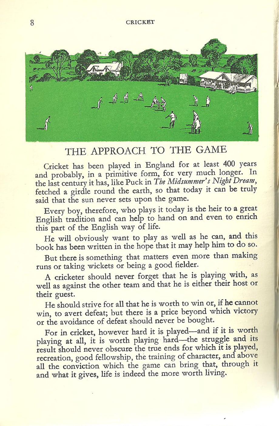 London Calling: PLAYING CRICKET