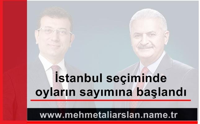 İstanbul seçiminde oyların sayımına başlandı