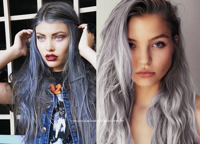 Pintar o cabelo de cinza