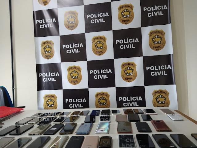 Polícia Civil recupera mais de 50 celulares furtados de depósito judicial
