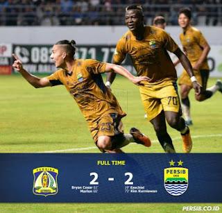 Persib Bandung Ditahan Imbang Persiba Balikpapan 2-2, Febri Kartu Merah