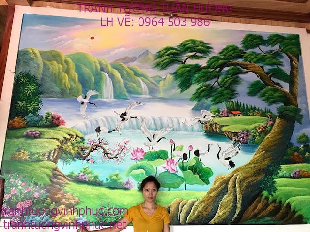 vẽ tranh 3d tại minh quang tam đảo