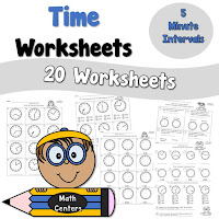 Time to Nearest 5 Minutes Worksheets