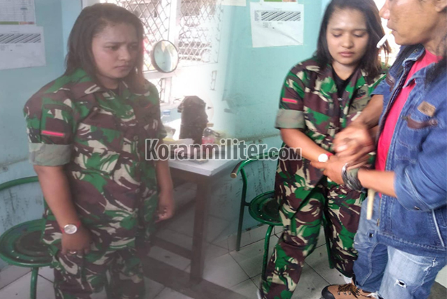 Seorang Wanita TNI Gadungan Berpangkat Prada Berhasil Diamankan Di Jayapura