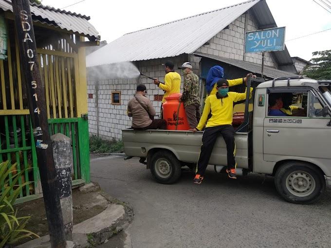 Upaya Putus Rantai Penyebaran Covid-19, Desa Ngrame Lakukan Penyemprotan Disinfektan
