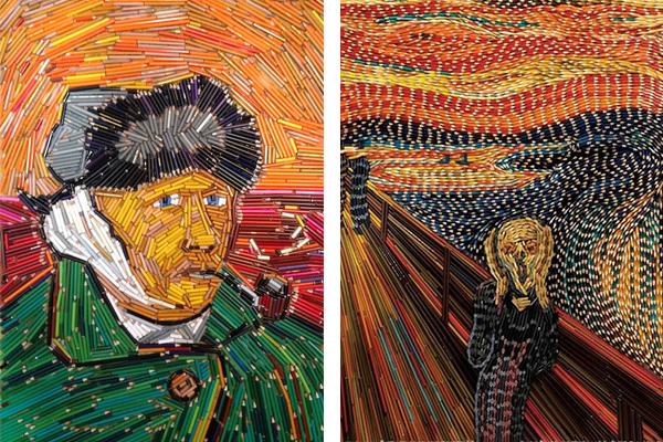 картины из цветных карандашей