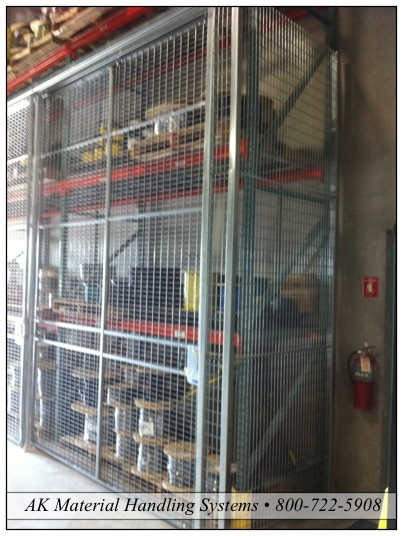 Pallet Rack Security Lock Up Cage Safety Sandy