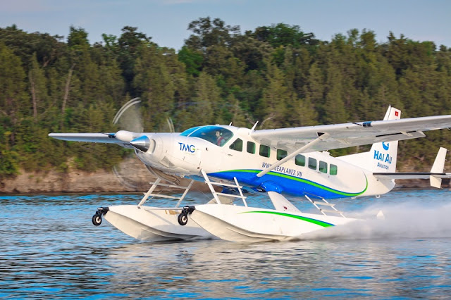 New seaplane flight explore Halong Bay 1