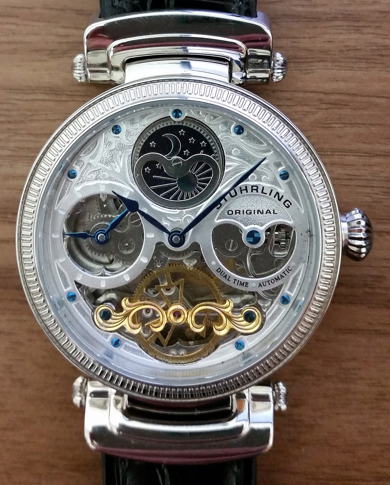 silver mechanical gute steampunk black classic aatos skeleton watches automatic watch review
