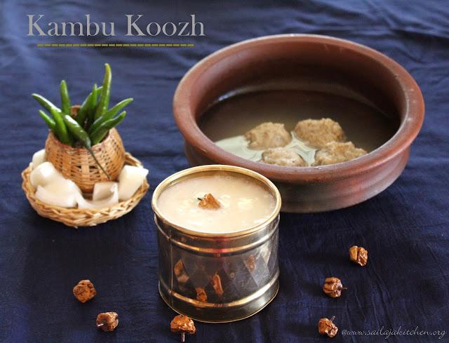 images of Kambu Koozh Recipe / Kambang Koozh / Bajra Porridge Recipe / Pearl Millet Porridge Recipe - Healthy Summer Drink