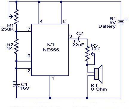 Metronome Generator Circuit Ic Ne555 Free Electronic