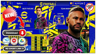 Download DLS MOD eFootball PES 2022 Edition New Update Squad & Jersey Season 2021-22