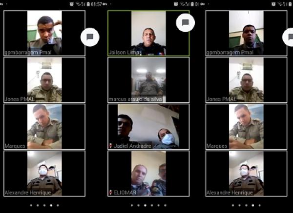 Em virtude da pandemia; 9º BPM em Delmiro Gouveia inova e passa a realizar preleções por videoconferência