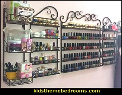 5 in 1 Nail Polish Wall Rack Organizer