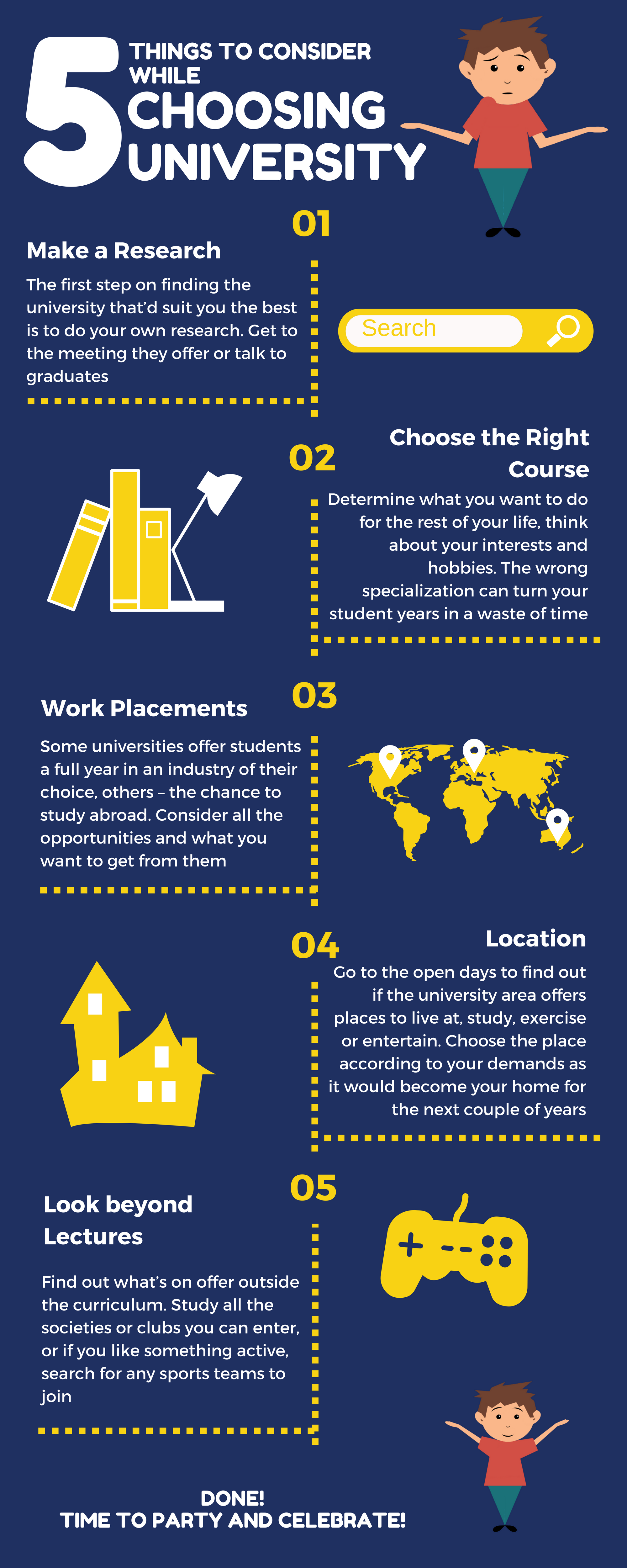 5 Things To Consider While Choosing University #infographic