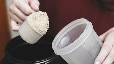 Scooping protein powder