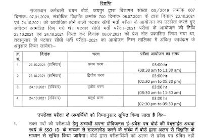 RSMSSB Patwari Exam Date 2021