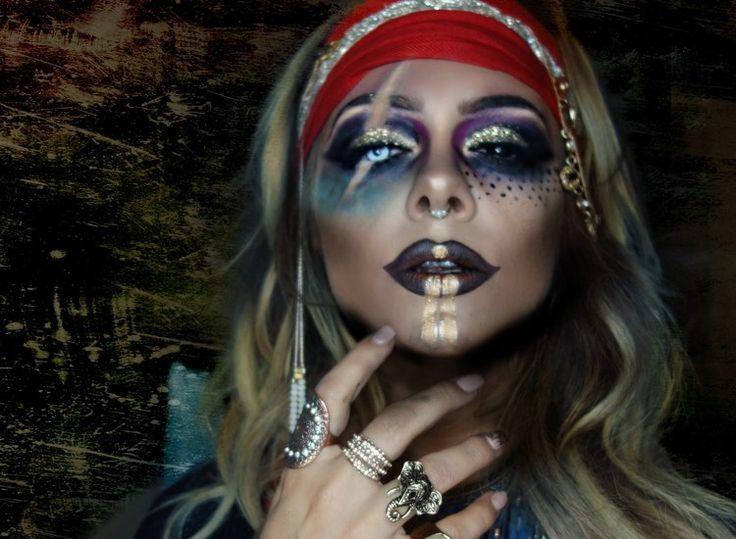 Imagenes De Maquillaje De Piratas Maquillaje Carnaval Pirata Zombie - Maquillaje-de-pirata-para-mujer
