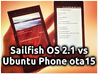 Sailfish OS 2.1 vs Ubuntu Phone OTA-15