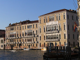 The Ca' Foscari and the Palazzo Giustinian, also part of the university, on Venice's Grand Canal