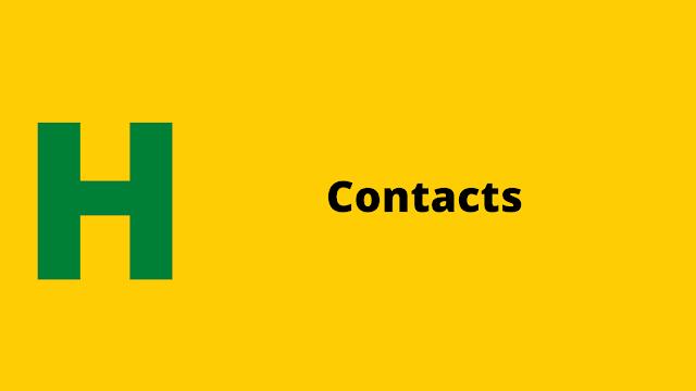 HackerRank Contacts problem solution