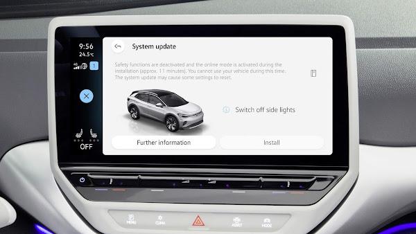 Volkswagen inicia atualização OTA para todos modelos elétricos ID