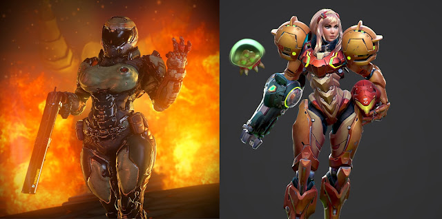 The image above is a pretty good example of a sexualized doomgirl, similar to how Samus Aran can be sexualized through her power suit.