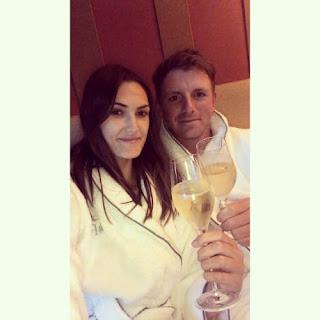 Matt Wallace Enjoying Glass Of Wine With His Girlfriend Chelsie Joce