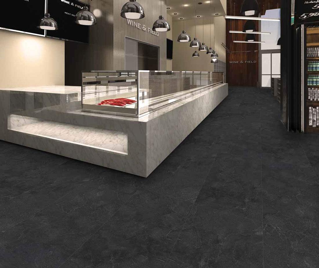 Black porcelain tile
