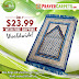 Cobalt Blue & Beige Dotted Prayer Rug