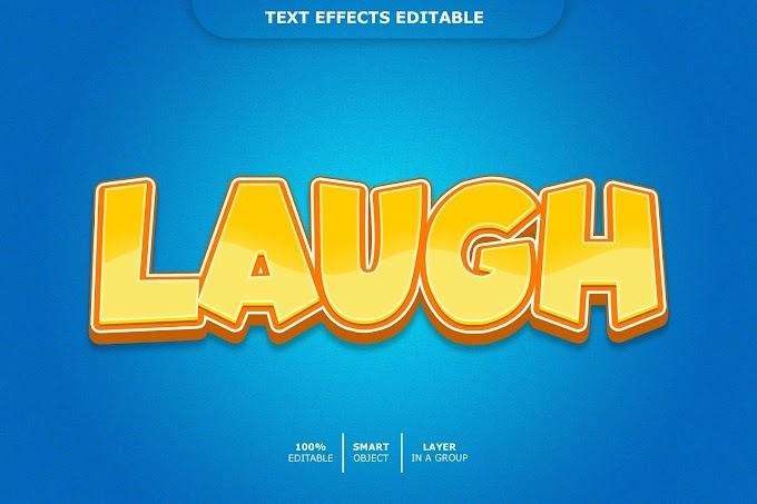 Laugh Text Effect PSD