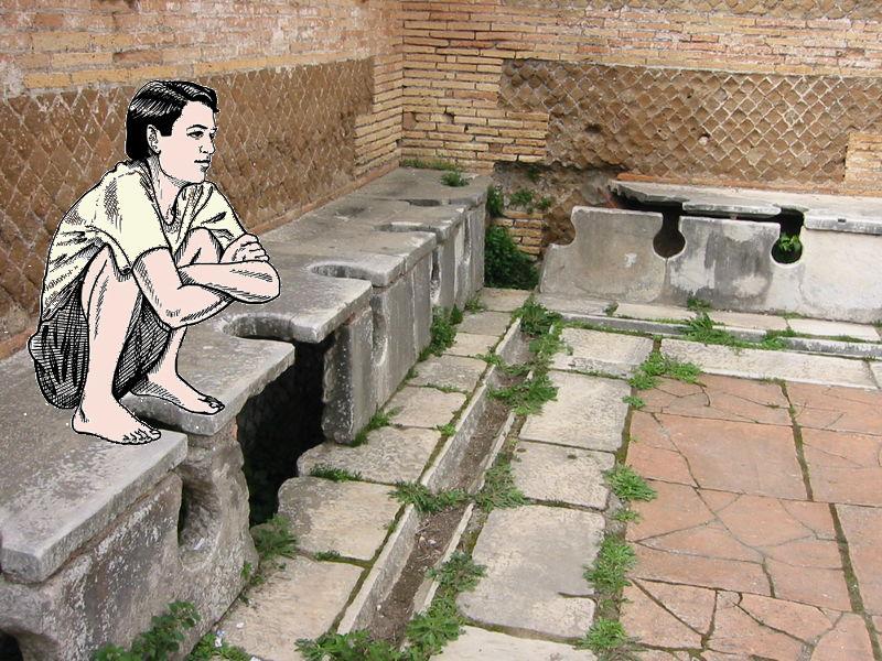 Paughflap blogspotcom Ancient Roman Squat Toilets