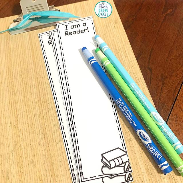 reading workshop bookmark activity