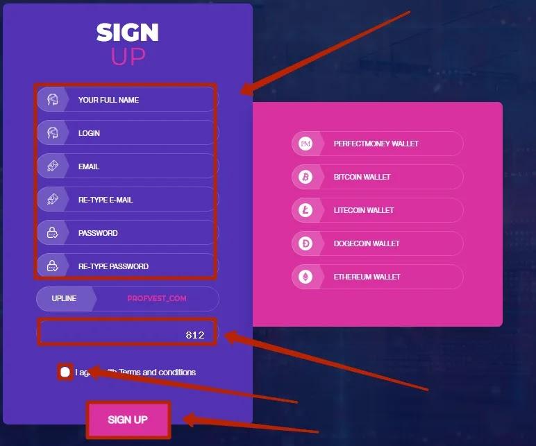Регистрация в FlyForex 2
