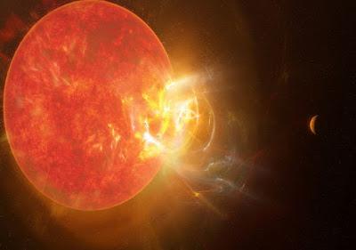 Una explosión como la producida por esta enana roja pulverizaría cualquier atmósfera y océanos en planetas como el nuestro