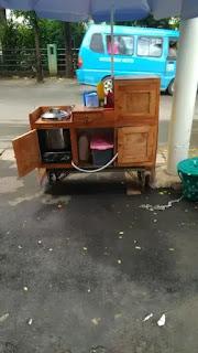 motor gerobak baso kayu