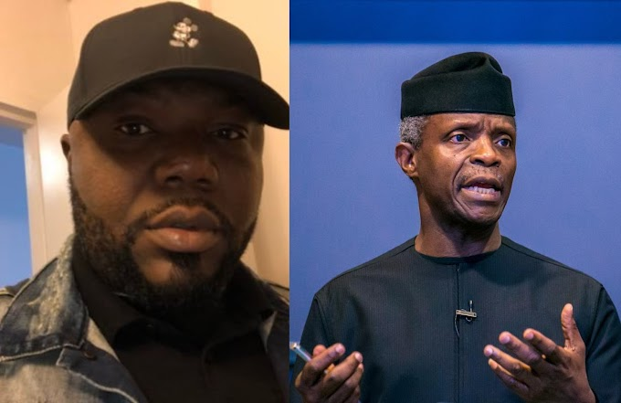 If Osinbajo wants to go to court, he must resign first and sue me - Jackson Ude reacts to Vice President's lawsuit threat