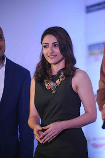 Soha Ali Khan cute pics in Black Short Dress at Spelling Bee Event 2016