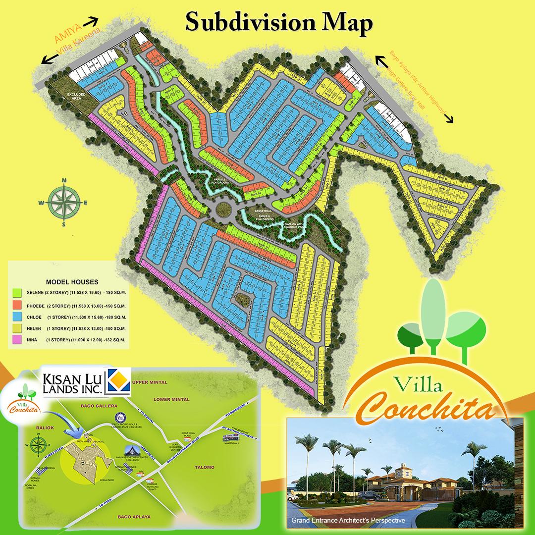 Villa Conchita Site Map
