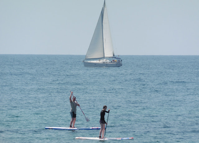 Stand Up Paddling at sea - Punta Prima beach