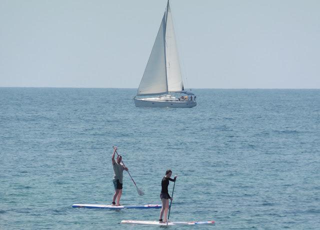 Stand Up Paddling at sea - Punta Prima beach