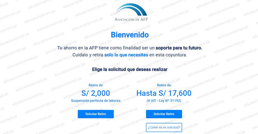 WWW.CONSULTARETIROAFP.PE - Ingresa tu DNI y registra la solicitud para retirar hasta 17.600 soles desde hoy jueves 27 mayo