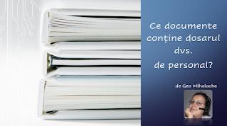 Articol #resurseumane - Ce documente conține dosarul dvs de personal
