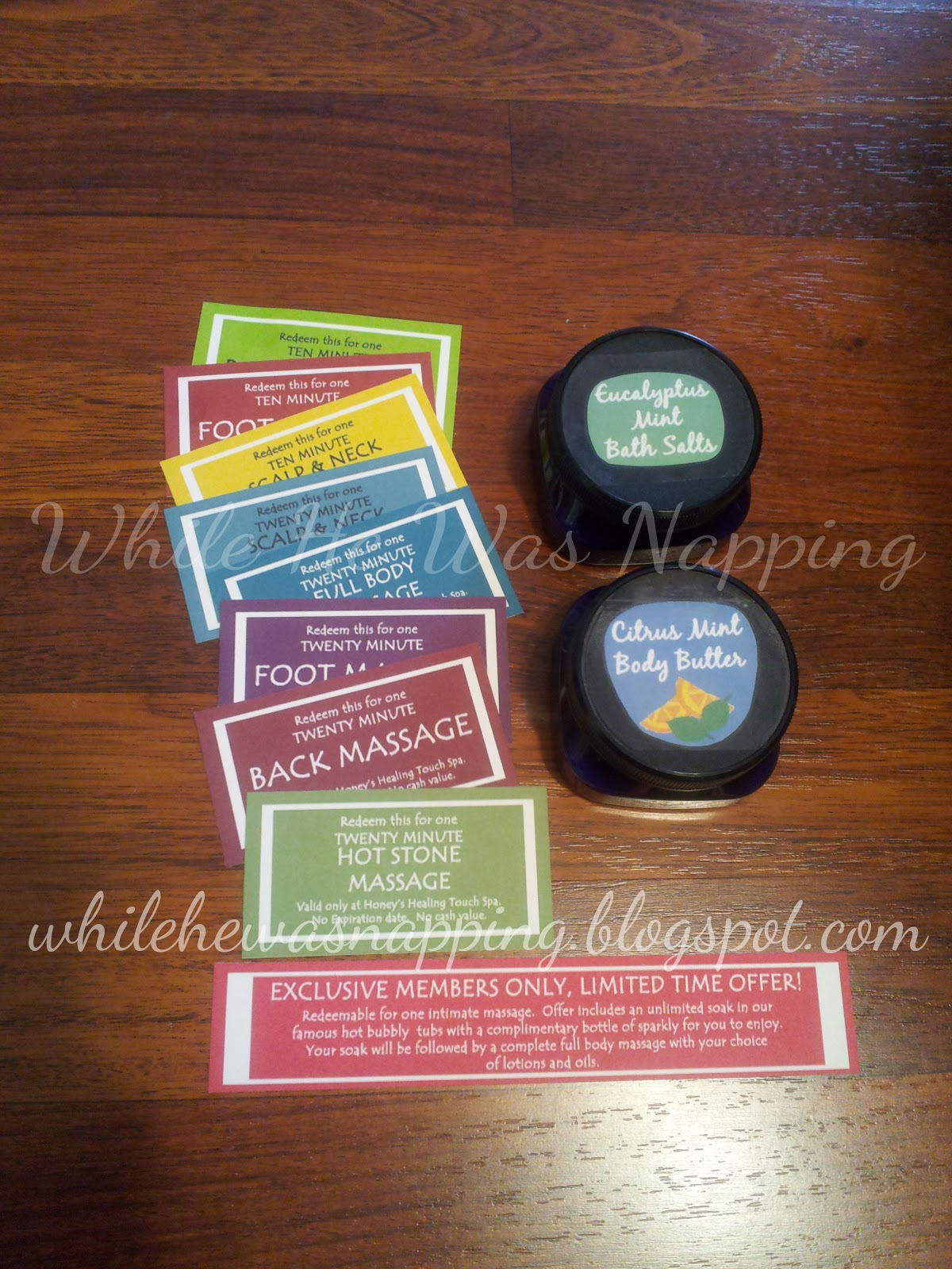 Valentine Massage Kit | While He Was Napping