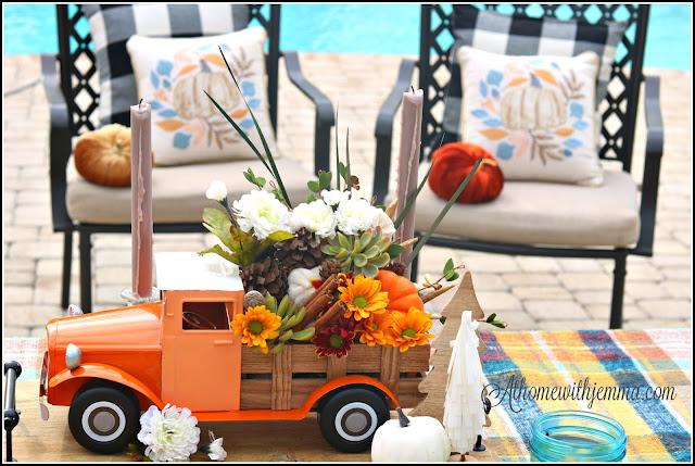 DIY, Centerpiece, Thanksgiving, Vintage, Truck, Alfresco,athomewithjemma