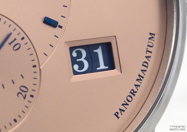 Detail of the Panorama Date of the Glashütte Original PanoMaticLunar